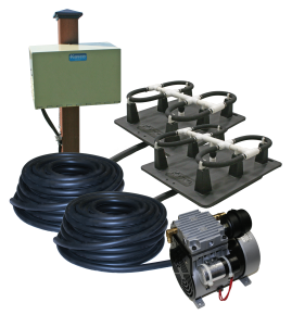 Robust-Aire-RA2-PM - 200' Tubing w/ Post Cabinet Fountain